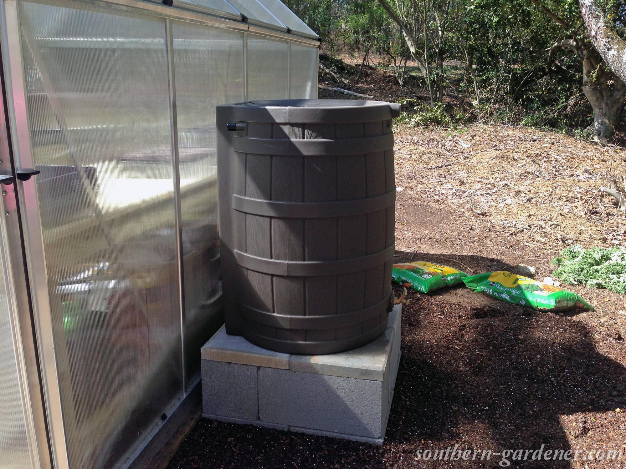 DIY rain barrel stand