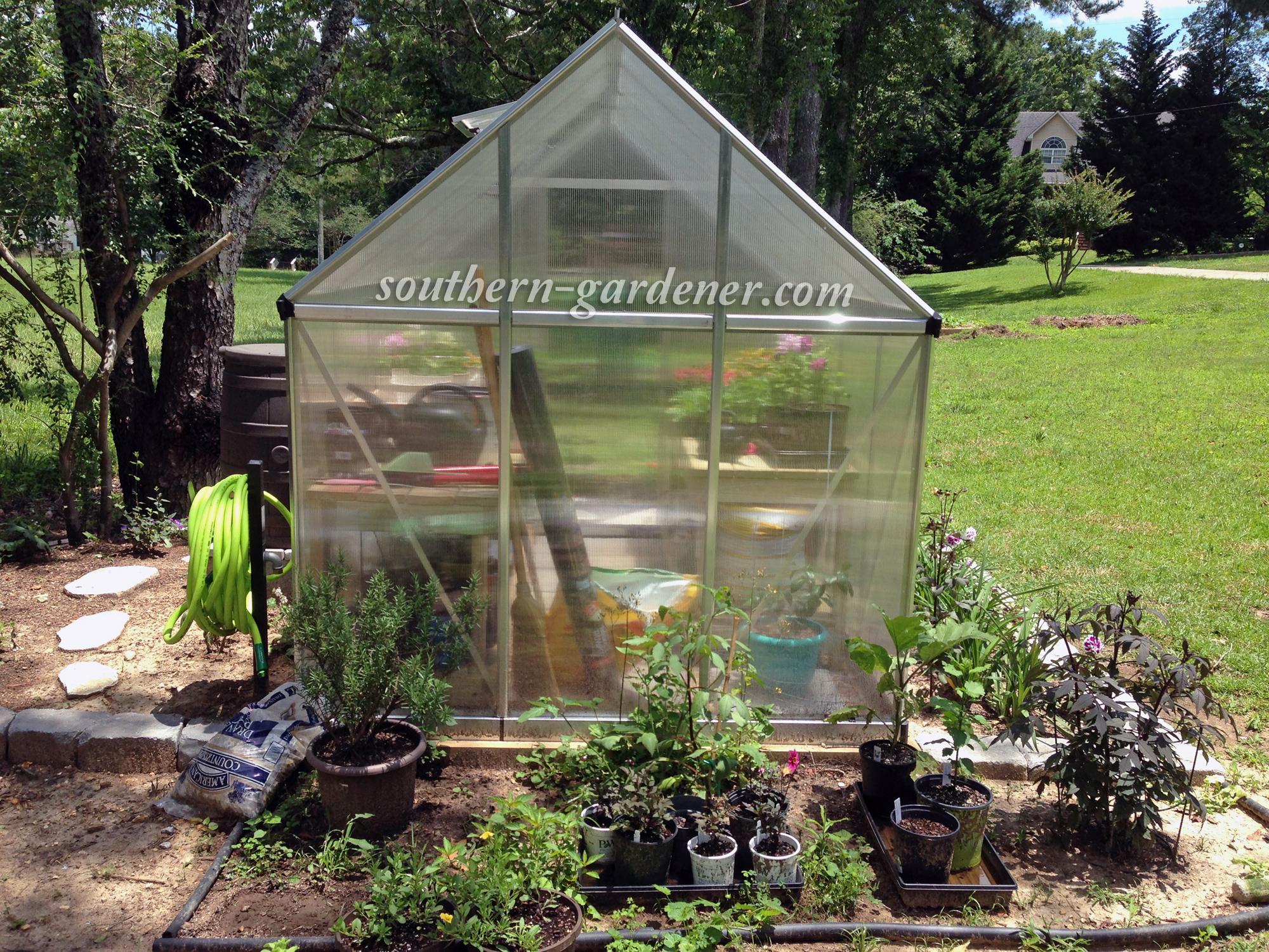 greenhouse landscaping