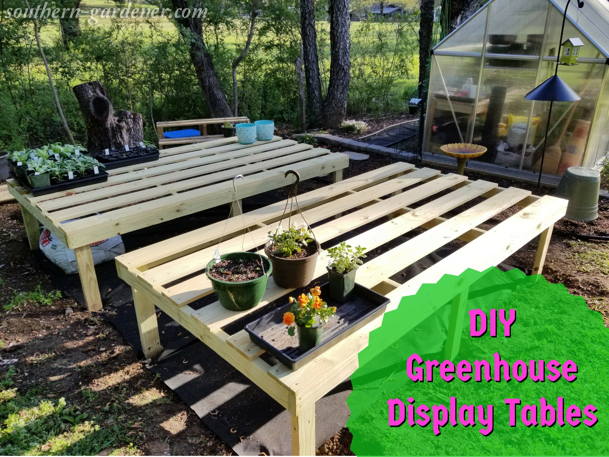 DIY Greenhouse Display Tables