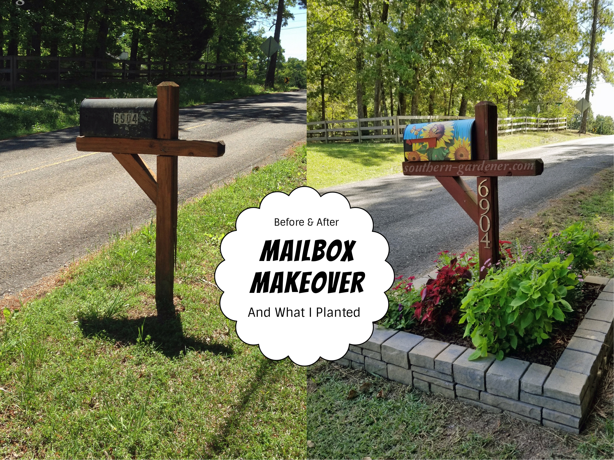 mailbox makeover and mailbox landscaping