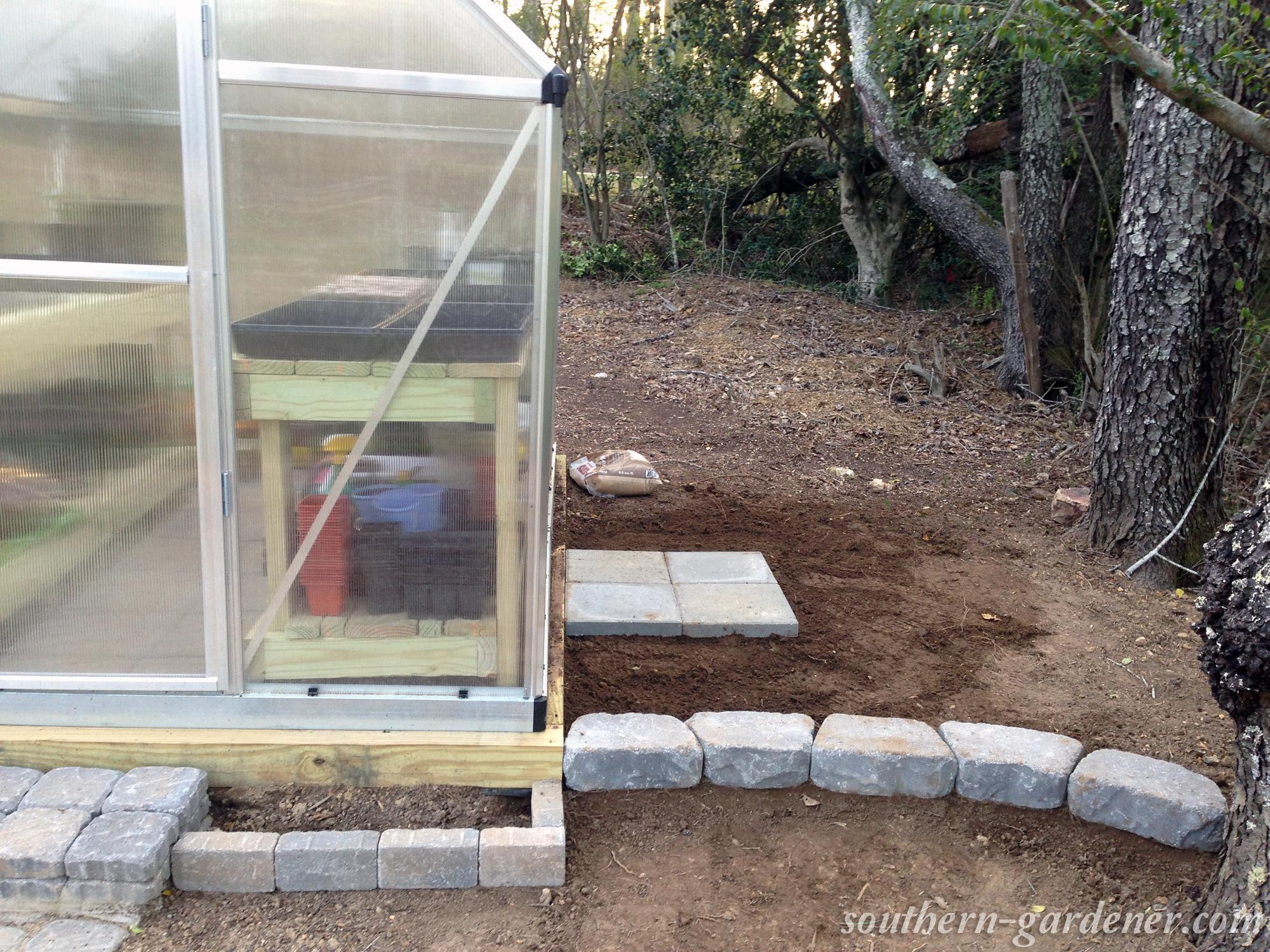 concrete pavers for rain barrel stand