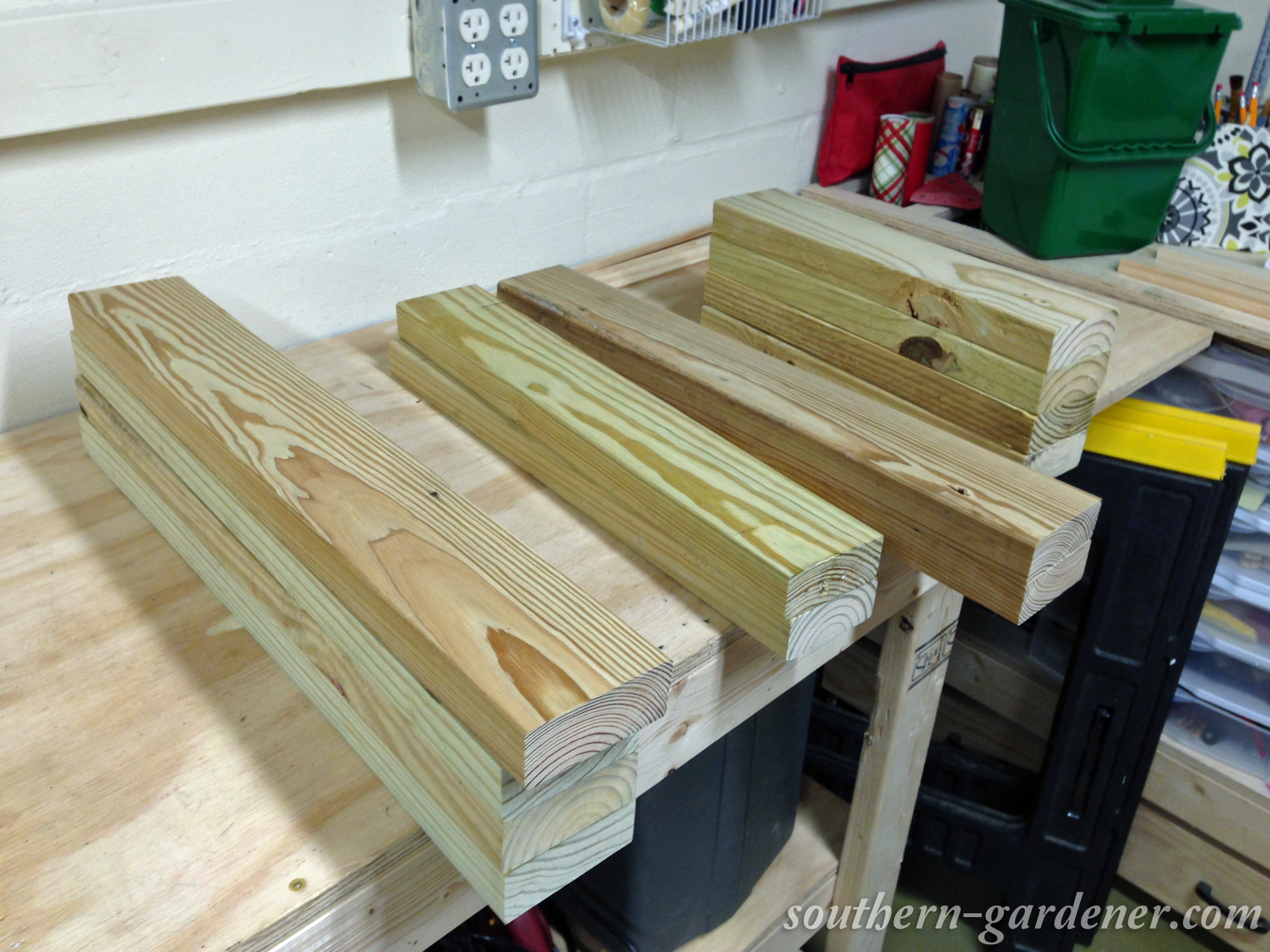 old 2x4's after planing