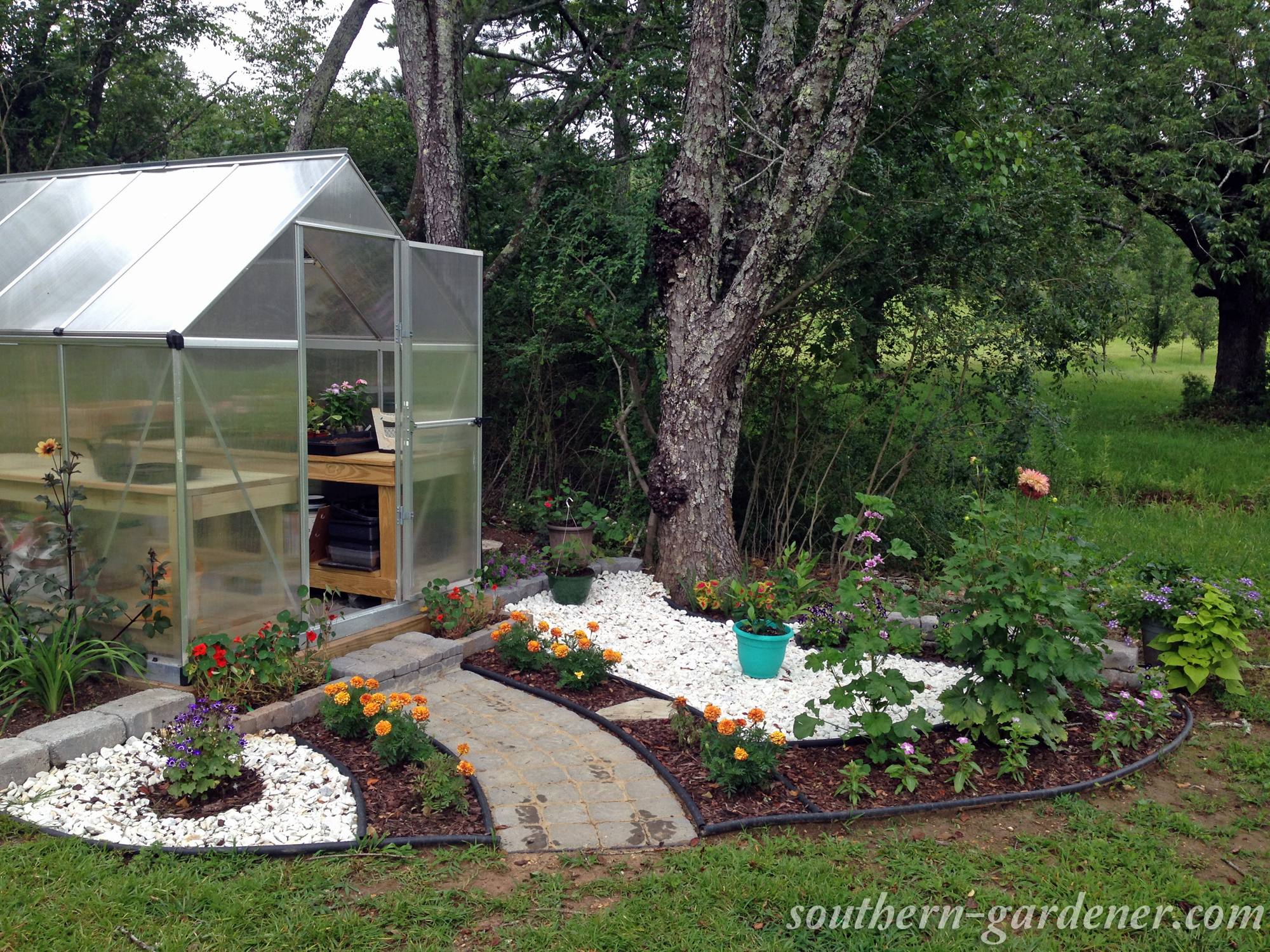 hobby greenhouse landscaping