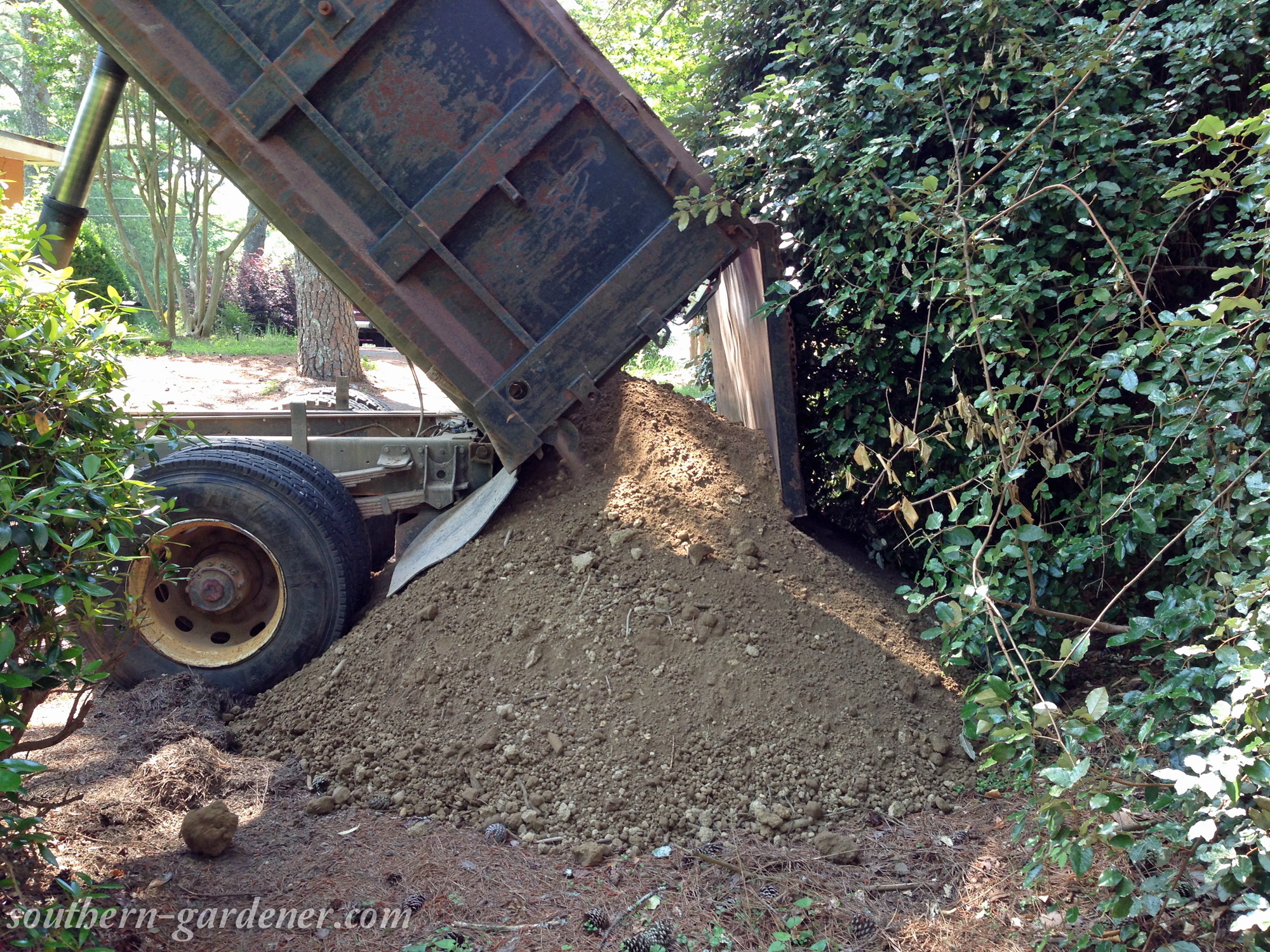 load of dirt for raised garden beds