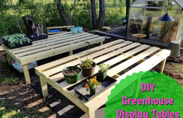 DIY Greenhouse Display Tables
